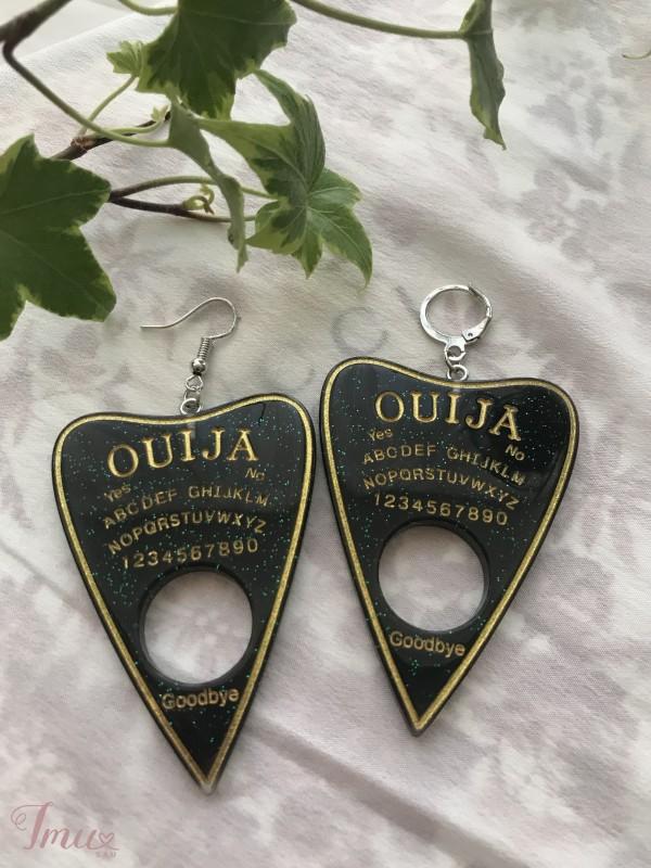 imusau.lt | parduodama rankų darbo auskarai // ouija board earrings